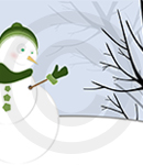 An Illustration Of A Winter Scene With Frosty The Snowman
