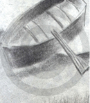 A Sketch Of A Wooden Boat